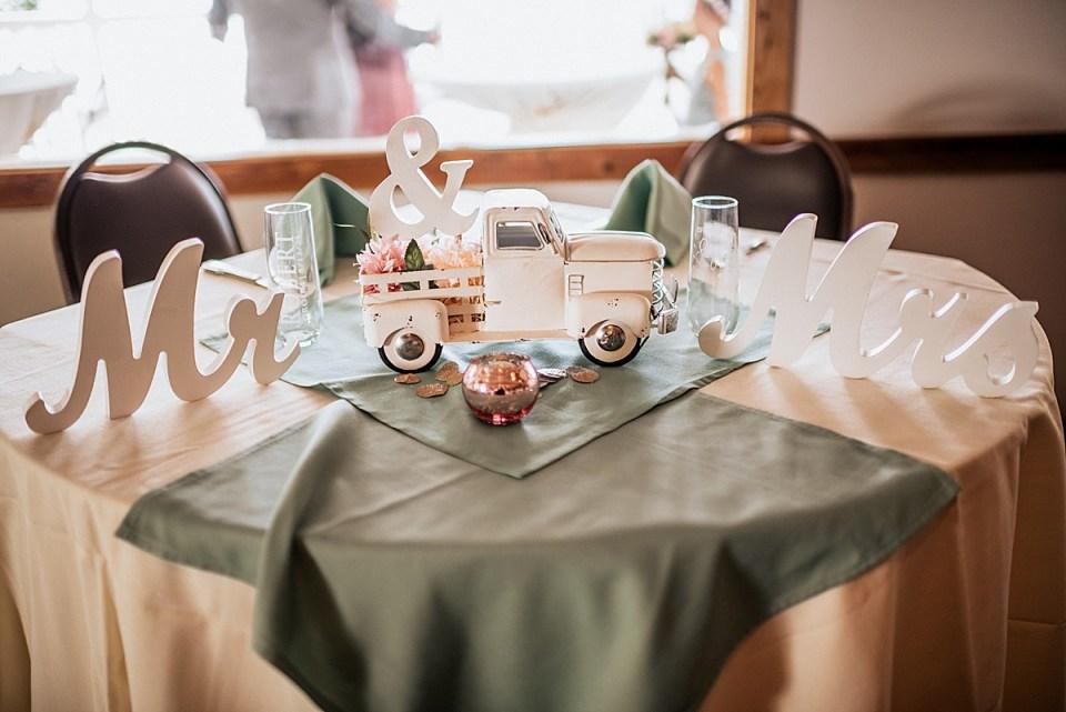 head table wedding decor truck