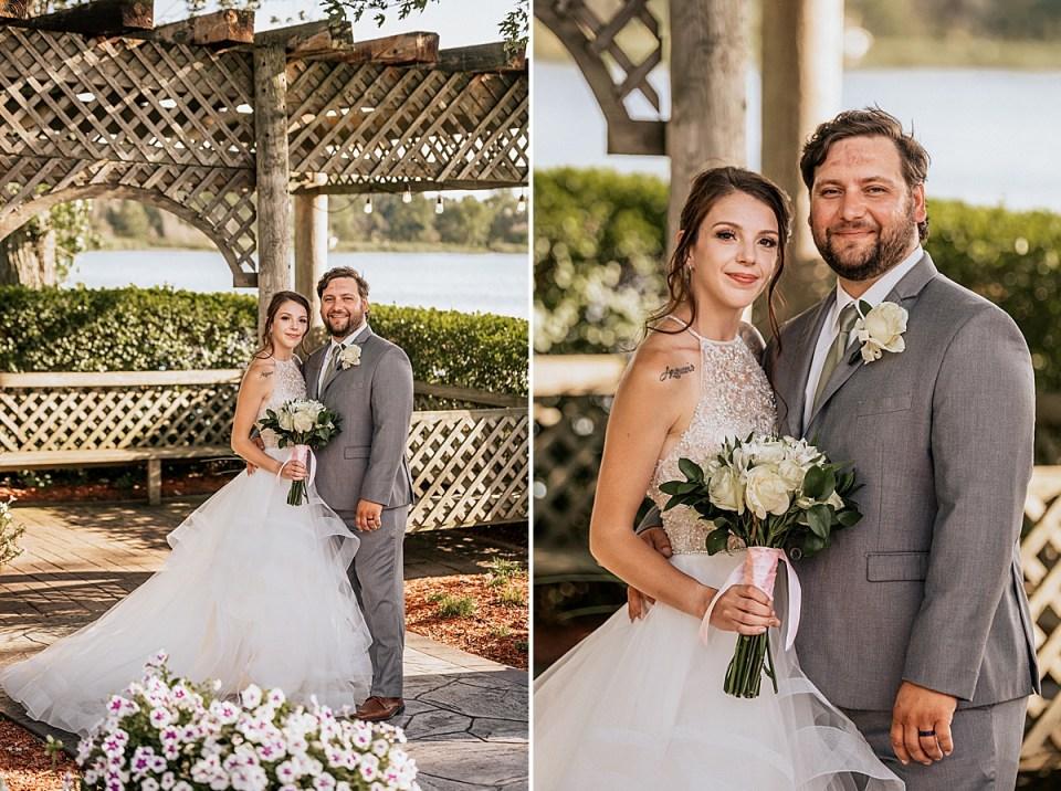 bride and groom at muskego wedding at bass bay brewhouse