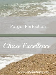 Forget Perfection Chase Excellence
