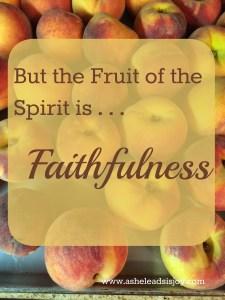 A Fruitful Year Faithfulness