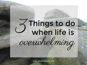 3 Things to do when life is overwhelming