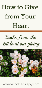 How to Give from your Heart