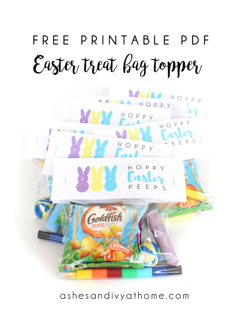 photograph regarding Free Printable Treat Bag Toppers known as Easter take care of bag topper - no cost printable PDF ASHES + IVY