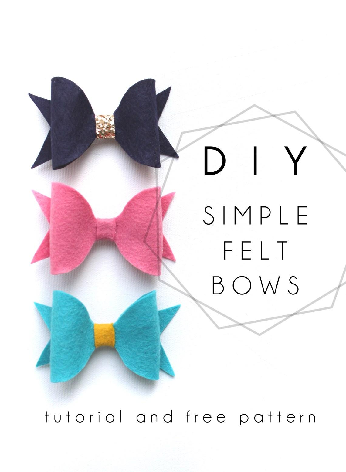 Diy felt bow tutorial with free pdf pattern ashes ivy at home simple diy felt bow tutorial with free printable pdf pattern solutioingenieria Choice Image
