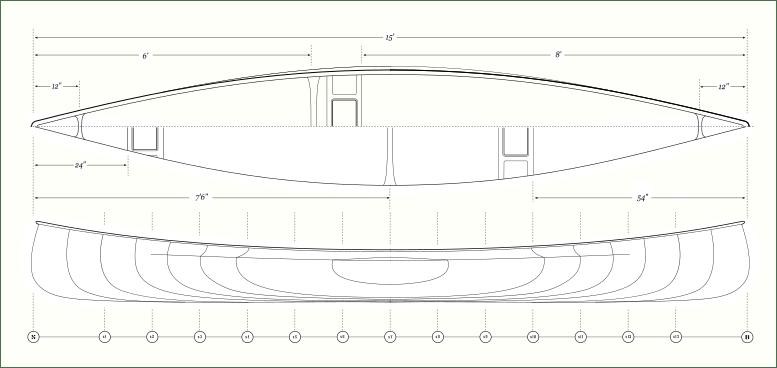 The Ashes Angler - Canoe Plans for Cedar Strip Construction
