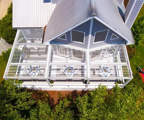 Adjustable Pergola Asheville Deck