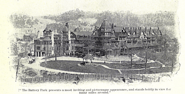 First Battery Park Hotel (1886). Frank Presbery, The Land of the Sky and Beyond: Southern Railway (1895?), Special Collections, D. H. Ramsey Library, University of North Carolina at Asheville.