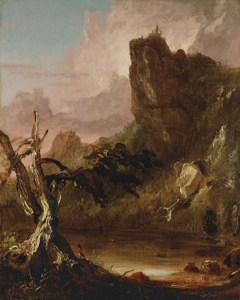 Thomas Cole, Imaginary Landscape with Towering Outcrop. Courtesy of Questroyal Fine Art.