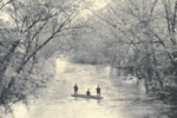 Boating on the Swannanoa. From Harriet Adams Sawyer, Asheville or the Sky-Land (1892)