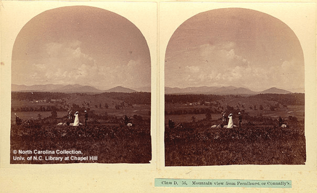 Mountain View from Fernihurst, Col. John Kerr Connolly's home, Victoria Rd., Asheville. Western North Carolina Heritage