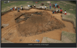Archeological excavation of Fort San Juan from Juan Pardo expedition, near Morganton. University of Michigan photo.