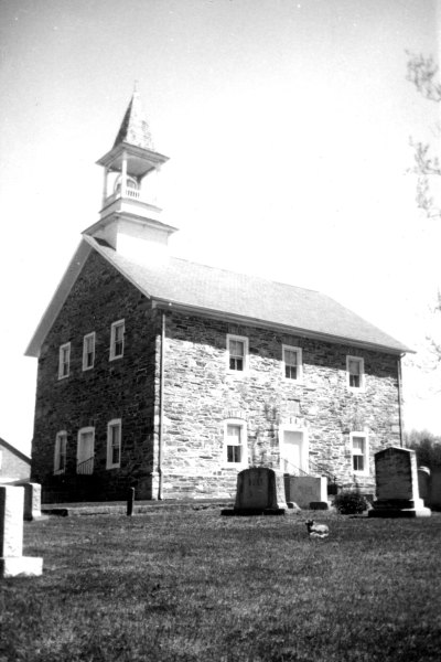 Lower Stone [Reformed] Church, Rowan County, 1795. Steeple added 1901. On National Register of Historic Places. Special Collections Research Center at NCSU Libraries