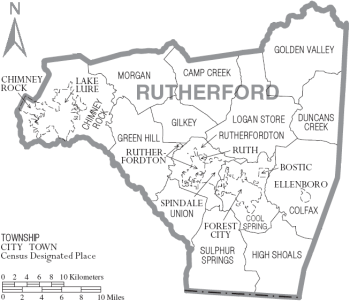 Rutherford County townships