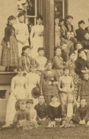 Closeup of Charlotte Female Institute students, 1887-1888