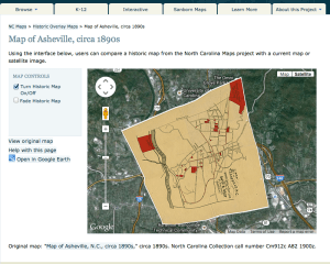 Interactive Google Earth Map with Sanborn and other links. Click to go to interactive version.