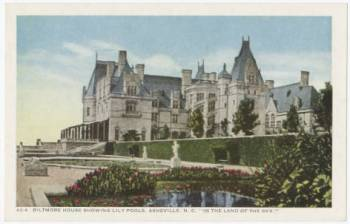 Biltmore House. Built by George W. Vanderbilt, 1895. North Carolina Postcard College, UNC Library.