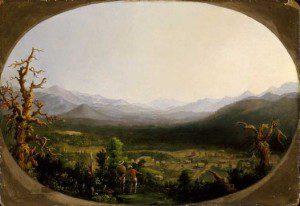 Robert Duncanson, A View of Asheville, North Carolina (1850). Houston Museum of Fine Arts, via Darin J. Waters, Life Beneath The Veneer: The Black Community in Asheville, North Carolina from 1793 to 1900 (PhD diss., UNC Chapel Hill, (2011).