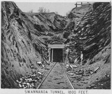 Swannanoa Tunnel. North Carolina State Archives.