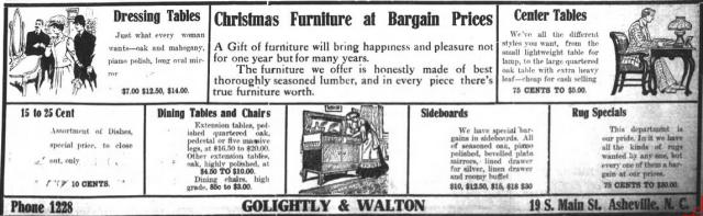 Asheville Citizen-Times, December 22, 1907, p. 11.