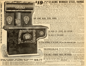 Acme Regal Steel Range. Sears Roebuck catalog, 1903, p. 804