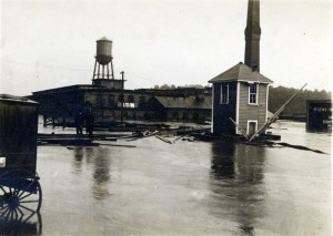 Lighting plant on French Broad River. Schandler Family Collection, UNCA.