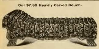 """Sears Roebuck catalog, 1903, p. 618. I have no idea how similar this may be to the """"tufted"""" couch Bertha described."""