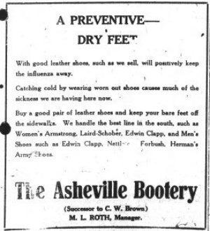 Asheville Citizen-Times, October 20, 1918.