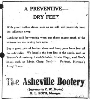 Asheville Citizen-Times, October 20, 1918.