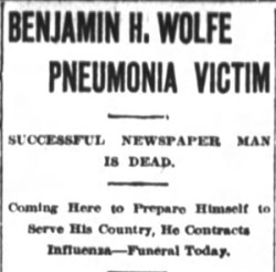 Asheville Citizen-Times, October 20, 1918. Click on image for the full article.