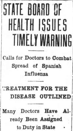 Asheville Citizen-Times, October 12, 1918