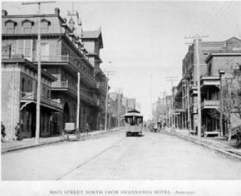 Streetcar on South Main 1889