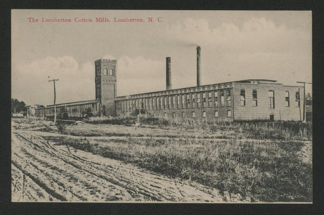 Lumberton Cotton Mills, ca. 1905-1925. Possibly built by McAllister. East Carolina University.