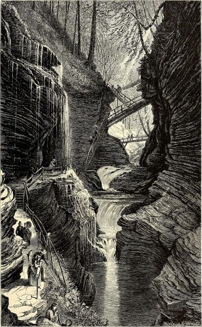 Drawing of Paint Rock. In William Cullen Bryant, Picturesque America; or, the Land We Live In (1872). Wikimedia Commons.