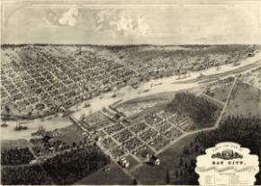 Bay City, upriver side, 1867