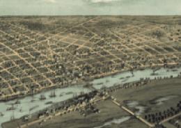 Bay City, 1867, downriver end