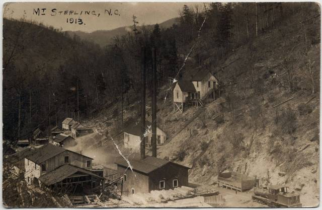 Logging at Mt. Sterling, Haywood County, NC, west of Asheville, 1913.