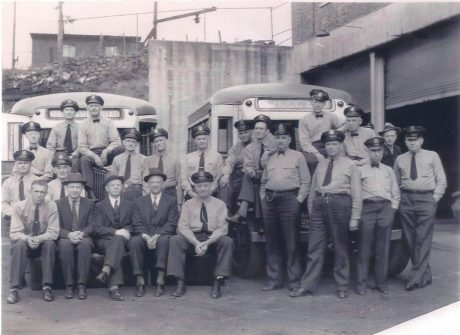 Asbury and buses, ca. 1935