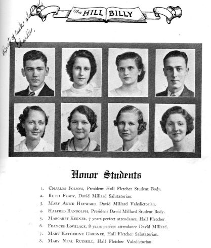 Honor Students 1934