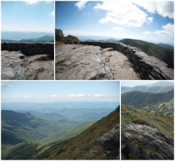 Views from the lower overlook on the Craggy Pinnacle Trail.