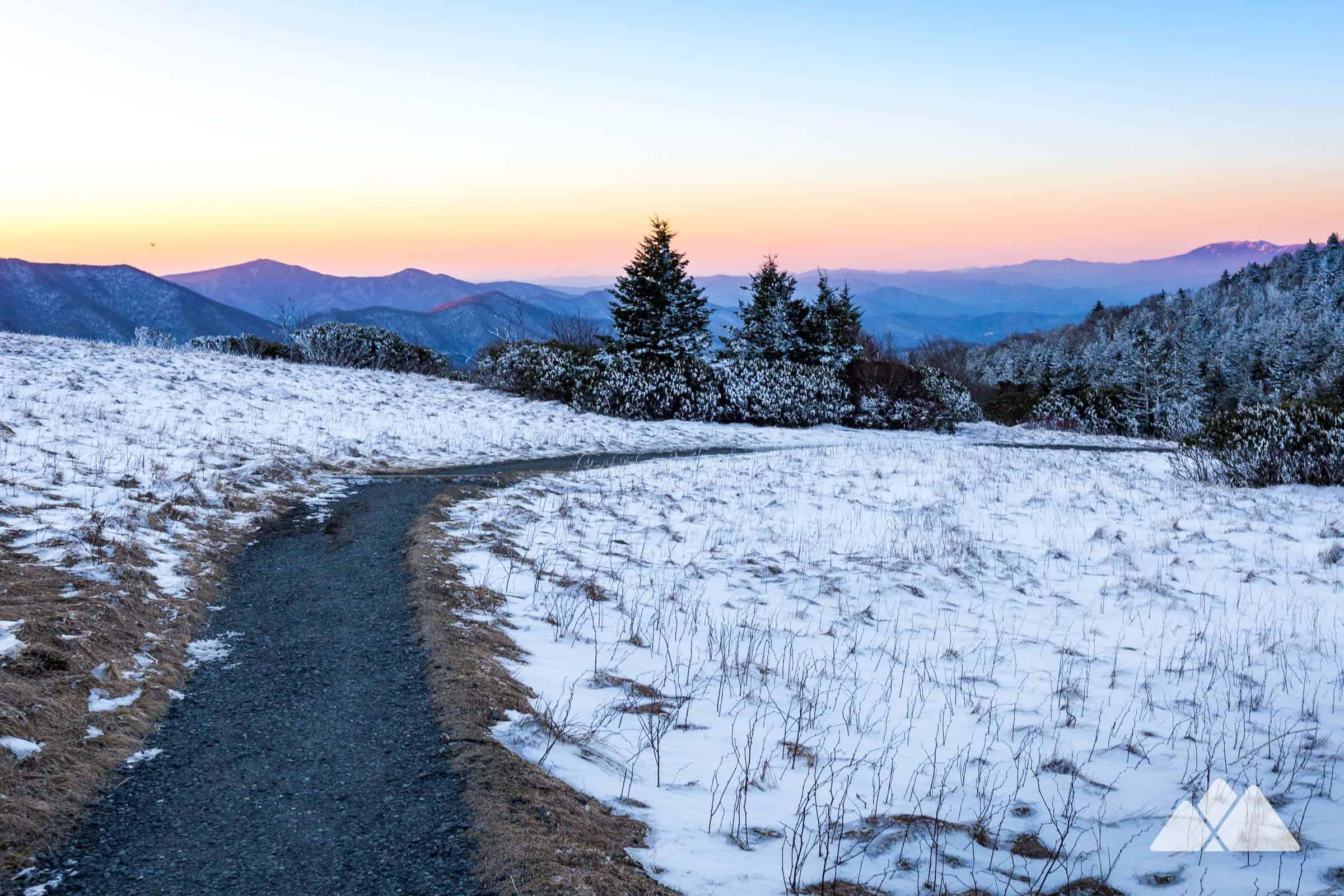 Ireland Fall Wallpaper Roan Mountain Winter Hike On The Appalachian Trail In Nc