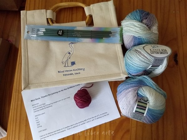 Driftless shop hop - Blue Heron Knittery purchase 2019 - yarn stash acquisition