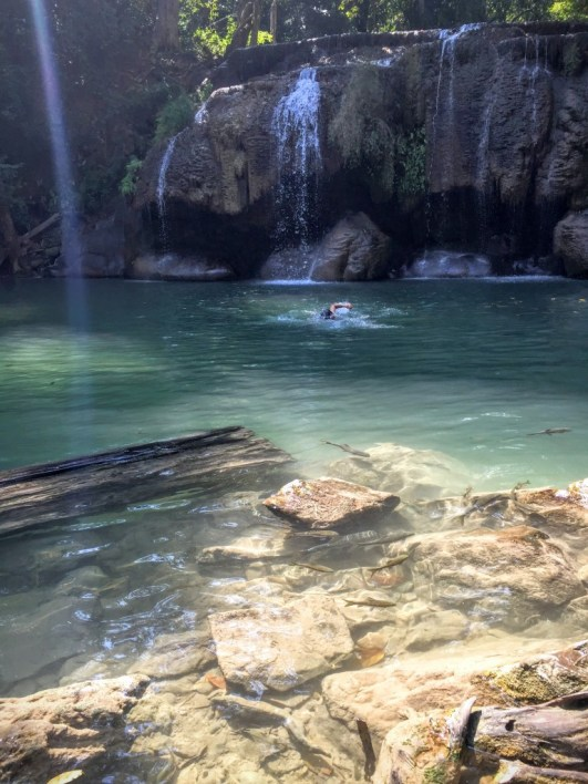Level 2 pond at Erawan Falls
