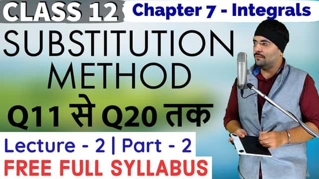 Integrals Lecture 2 Part 2