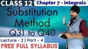 Integrals Lecture 2 Part 4