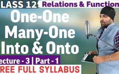 One-One, Many-one, Onto, Into Functions Class 12 Maths Chapter 1