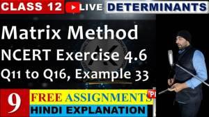 Determinants Lecture 9