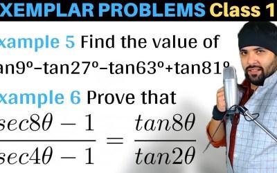 Find the value of tan9° – tan27° – tan63° + tan81°