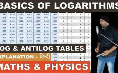 Basics of Logarithms log table and antilog table – Maths and Physics