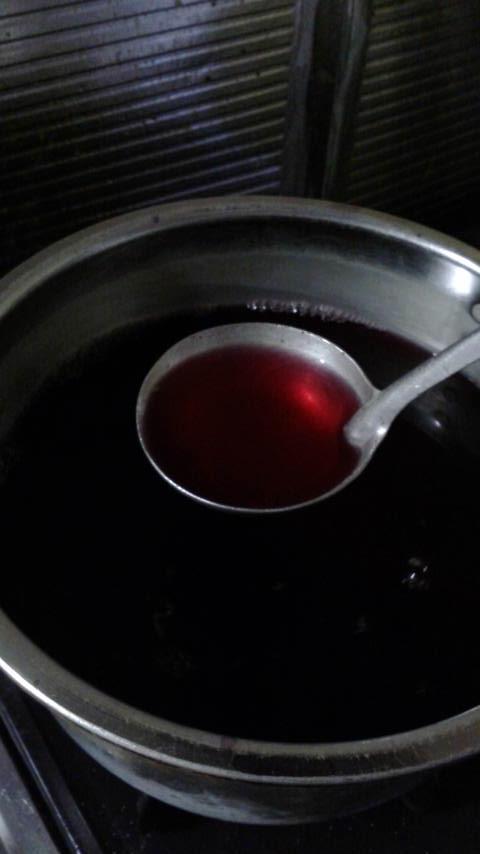 夏バテに、赤しそジュース再び