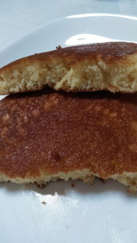 厚焼きパンケーキにトライ